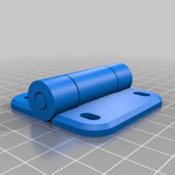 cooler_hinge_pip_v2.png Download free STL file Coleman Cooler Hinges - Print In Place • 3D printer template, David1729