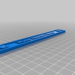 6304c73b96b8437bb0050c66ed4ea7b0.png Download free SCAD file Name Plate • Object to 3D print, David1729