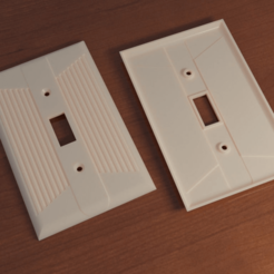 retro_wall_switch_cover_v6.png Download free STL file Retro Wall Switch Cover • 3D printing object, David1729