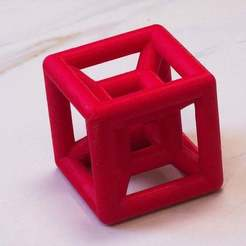 IMG_9839_cubecube.jpg Download free SCAD file Cube-Within-a-Cube Ornament • 3D printable template, David1729