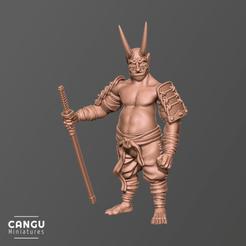 Susanoo_06.png Download free OBJ file Oni General • 3D printable design, CanguMiniatures
