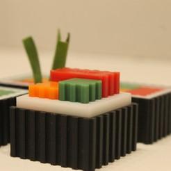 IMG_3720.JPG Télécharger fichier STL Sushi Futomaki modulable • Modèle pour imprimante 3D, Eff3DWeb