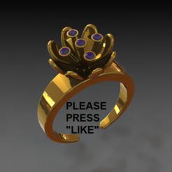 Télécharger fichier STL gratuit Lily ring • Plan imprimable en 3D, DixitaPrajapati