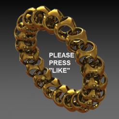 bracelet 1.PNG Download free STL file Bracelet & necklace • 3D printer design, DixitaPrajapati