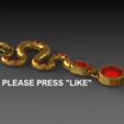 Download free 3D print files Snake pendent, DixitaPrajapati