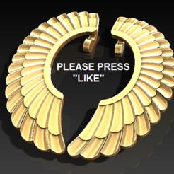 earing 1.PNG Download free STL file Wing earrings • 3D printer object, DixitaPrajapati