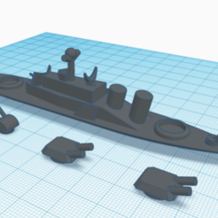 Screenshot (16).png Download STL file ship with turnable turrets • 3D print template, jaemaxwellcha