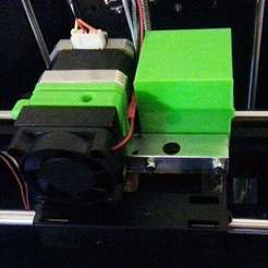 fitted_block.jpg Download free STL file FlashForge Creator pro CTC right extruder motor blank • 3D printable object, MontyApFlange