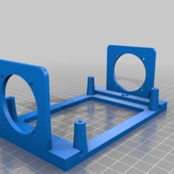 4cef440e97b0a8f17f339060d61c909e.png Download free STL file SKR Board Bracket 40mm fans brackets added • 3D printing design, MontyApFlange