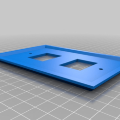 plate_2_holes_fixed.png Download free STL file Anderson Power Pole Plate 2 Holes • 3D print template, MontyApFlange