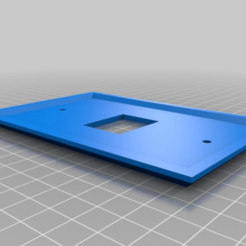plate_1_holes_fixed.png Download free STL file Anderson Power Pole Plate 1 Holes • Design to 3D print, MontyApFlange