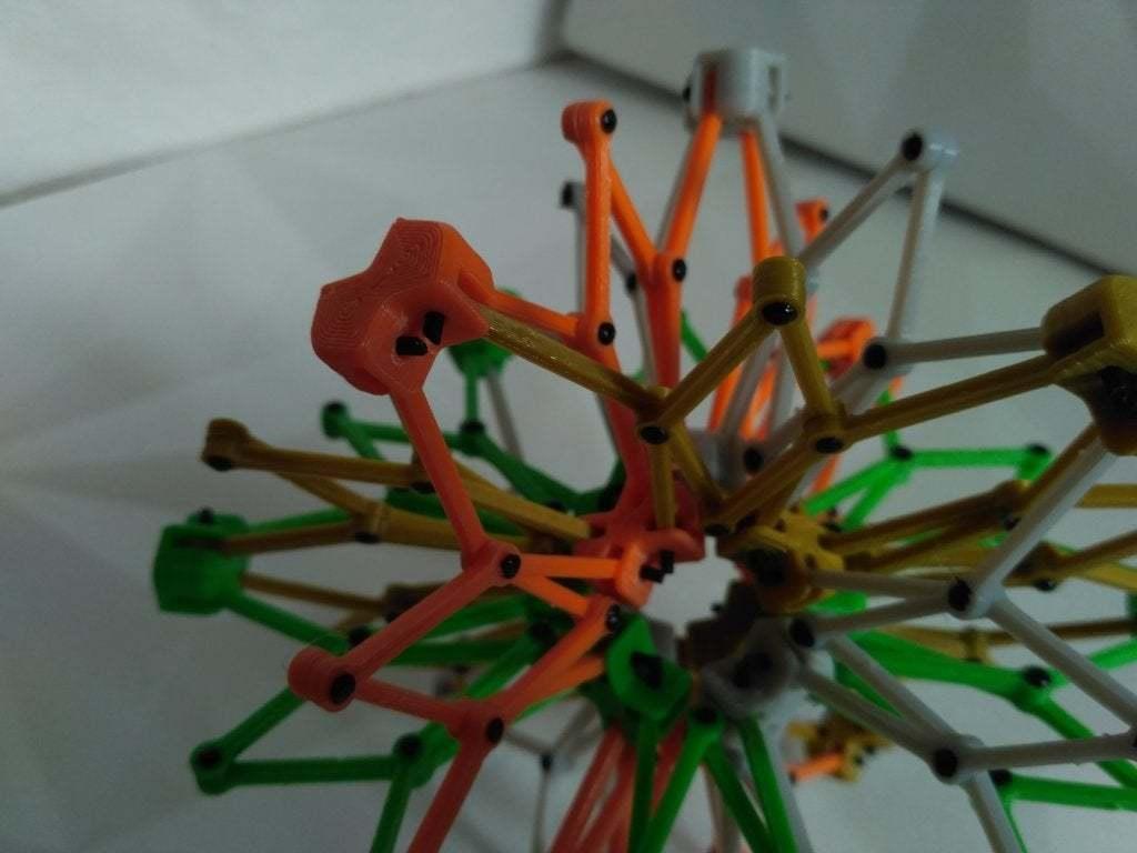pic-20170728114044.jpg Télécharger fichier STL gratuit Sphère hobermanique ( Cuboctaèdre ) • Design pour imprimante 3D, SiberK