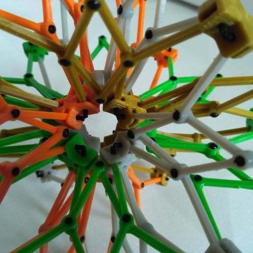 pic-20170728114054.jpg Télécharger fichier STL gratuit Sphère hobermanique ( Cuboctaèdre ) • Design pour imprimante 3D, SiberK