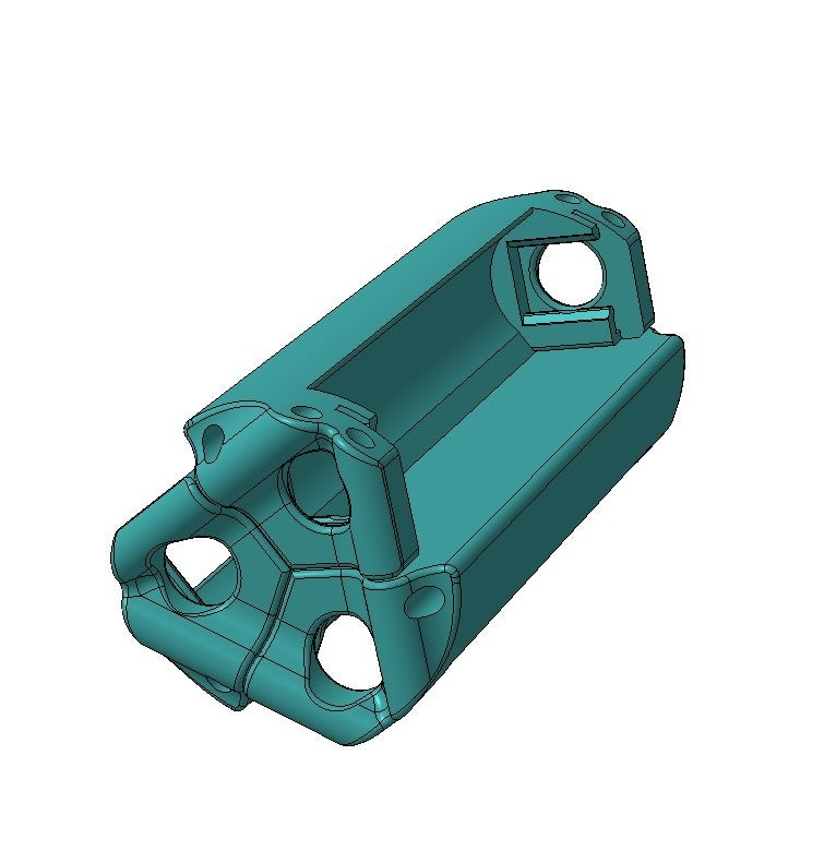 _14500_M_Sep.png Download free STL file Battery holder for 3x 14500, AA • 3D printer template, SiberK