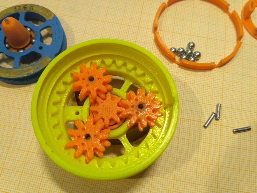 """pic-20190417_133410.jpg Télécharger fichier STL gratuit """"Toupie """"mécanique • Plan pour imprimante 3D, SiberK"""