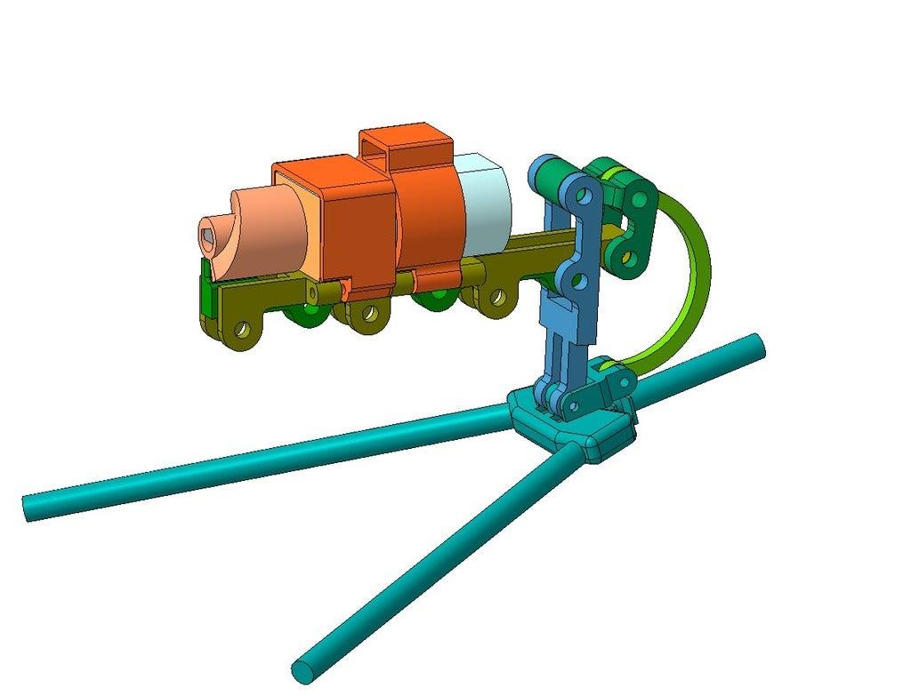 Model.png Télécharger fichier STL gratuit Botte de puces. (Блоха механическая) • Plan à imprimer en 3D, SiberK
