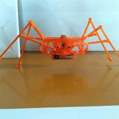 Download free 3D printer templates Spider walking machine, SiberK