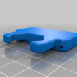 "Download free STL file Buckle ""Alien"" (for belt 35mm). • 3D printing model, SiberK"