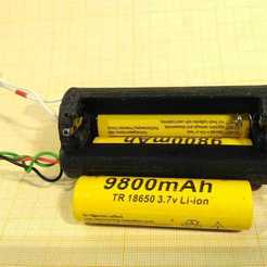 Download free STL Battery holder for 3x 18650, SiberK