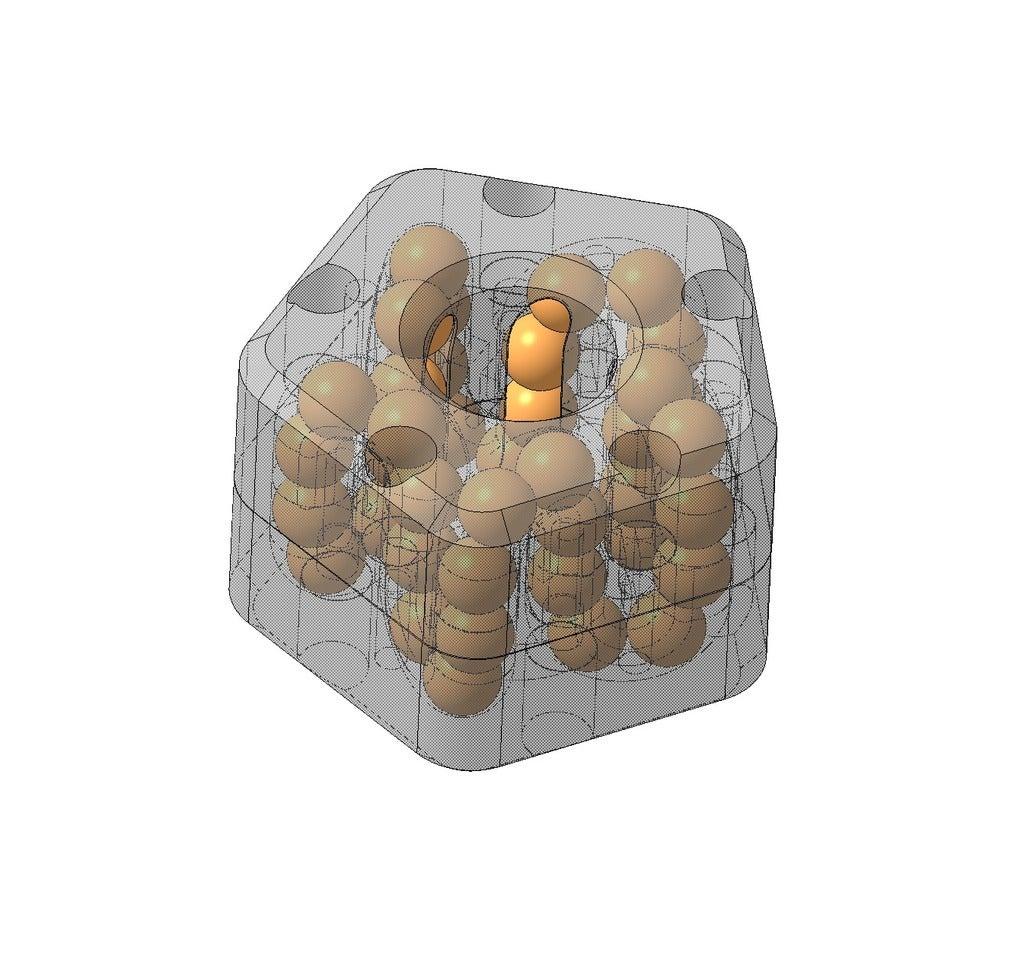 _51.png Télécharger fichier STL gratuit Roulement linéaire à recirculation de billes de 10 mm (5 rangées) • Objet pour impression 3D, SiberK