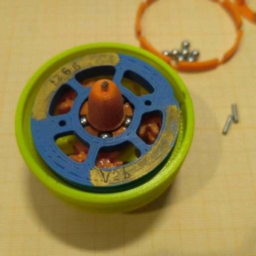 """pic-20190417_133436.jpg Télécharger fichier STL gratuit """"Toupie """"mécanique • Plan pour imprimante 3D, SiberK"""