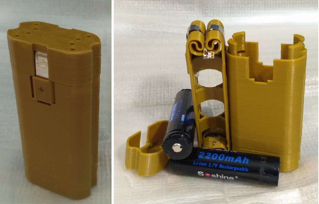 BA_18650.jpg Télécharger fichier STL gratuit Adaptateur de batterie 18650 pour tournevis. • Plan à imprimer en 3D, SiberK