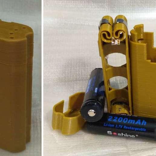 Télécharger modèle 3D gratuit Adaptateur de batterie 18650 pour tournevis., SiberK