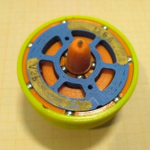 """pic-20190417_134244.jpg Télécharger fichier STL gratuit """"Toupie """"mécanique • Plan pour imprimante 3D, SiberK"""