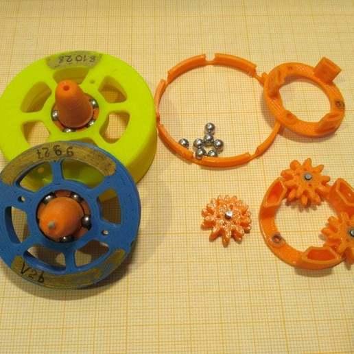 """pic-20190417_132627.jpg Télécharger fichier STL gratuit """"Toupie """"mécanique • Plan pour imprimante 3D, SiberK"""