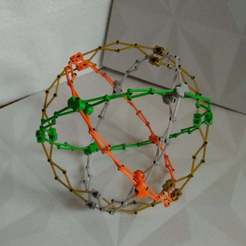 Download free STL files Hoberman sphere ( Cuboctahedron ), SiberK