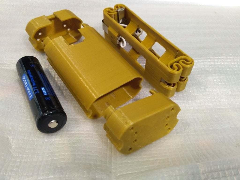 pic-20170801122530.jpg Télécharger fichier STL gratuit Adaptateur de batterie 18650 pour tournevis. • Plan à imprimer en 3D, SiberK