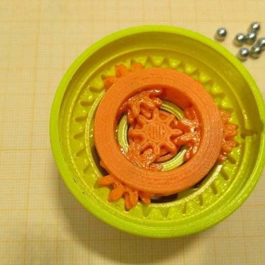 """pic-20190417_134039.jpg Télécharger fichier STL gratuit """"Toupie """"mécanique • Plan pour imprimante 3D, SiberK"""