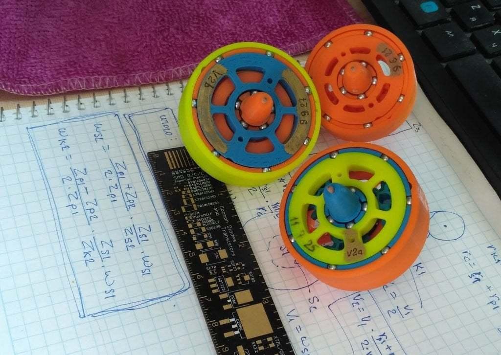 """pic-20190417_120243cr.jpg Télécharger fichier STL gratuit """"Toupie """"mécanique • Plan pour imprimante 3D, SiberK"""