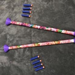 Foam Dart Shooter1.jpg Download free STL file Foam Dart Shooter (Nerf Dart Compatible) • 3D printing object, Geaks_Gone_Wild