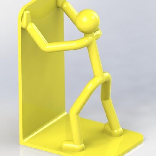 Stickman_bookend_02a.JPG Download free STL file Stickman Bookend • Model to 3D print, gg3d66