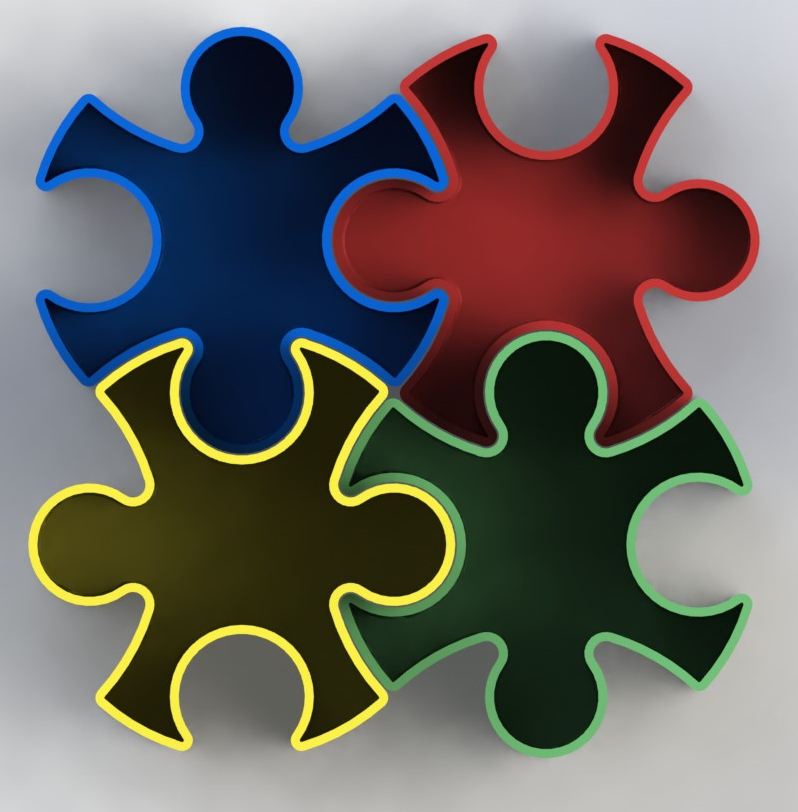 Puzzle_b.JPG Download free STL file Puzzle • 3D print template, gg3d66