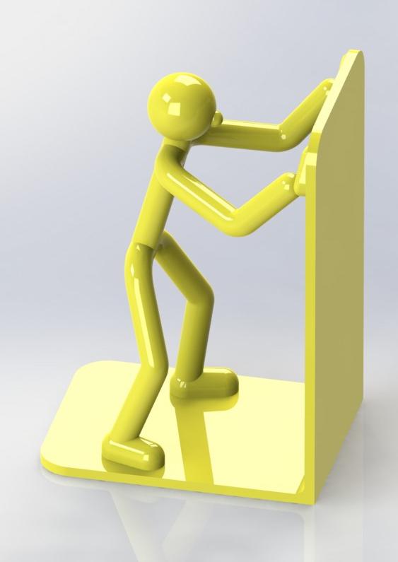 Stickman_bookend_02b.JPG Download free STL file Stickman Bookend • Model to 3D print, gg3d66
