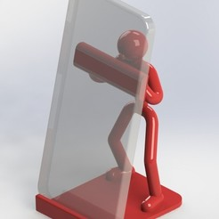 Stickman_smartphone_01a.JPG Download free STL file Stickman smartphone holder • 3D printing object, gg3d66