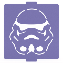 Download STL files Star Wars Legendary stencil set of 6 for Coffee and Baking, roxenstencil