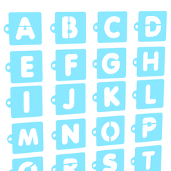 Screenshot_2.png Download STL file Alphabet stencil set of 26 for Coffee and Baking • 3D printer design, roxenstencil