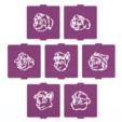 1.png Télécharger fichier STL Jeu de 7 pochoirs pour la patrouille des pattes pour le café et la pâtisserie • Objet pour impression 3D, roxenstencil