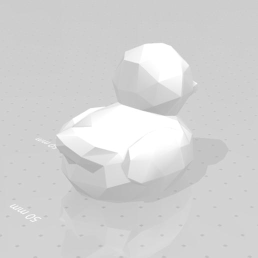 duck_02.png Download STL file Low poly duck • 3D print design, eAgent
