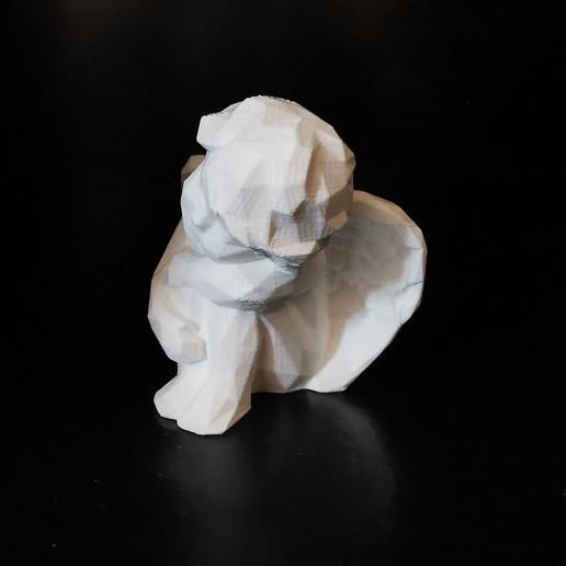 angel_03.jpg Download STL file Low poly Angel resting • 3D print design, eAgent