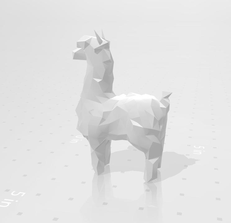 alpaca_02.png Download STL file Low poly alpaca • 3D printing template, eAgent