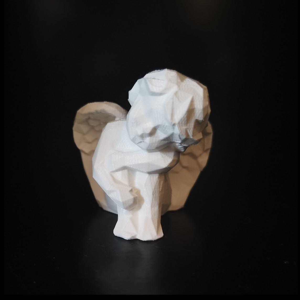 angel_02.jpg Download STL file Low poly Angel resting • 3D print design, eAgent