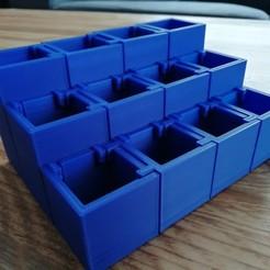 cubes_1.jpg Télécharger fichier STL Organisateur de maquillage • Objet à imprimer en 3D, eAgent