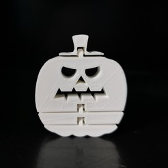 pumpkin_01.jpg Download STL file 🎃 Flexi print-in-place Halloween pumpkin • 3D printing model, eAgent