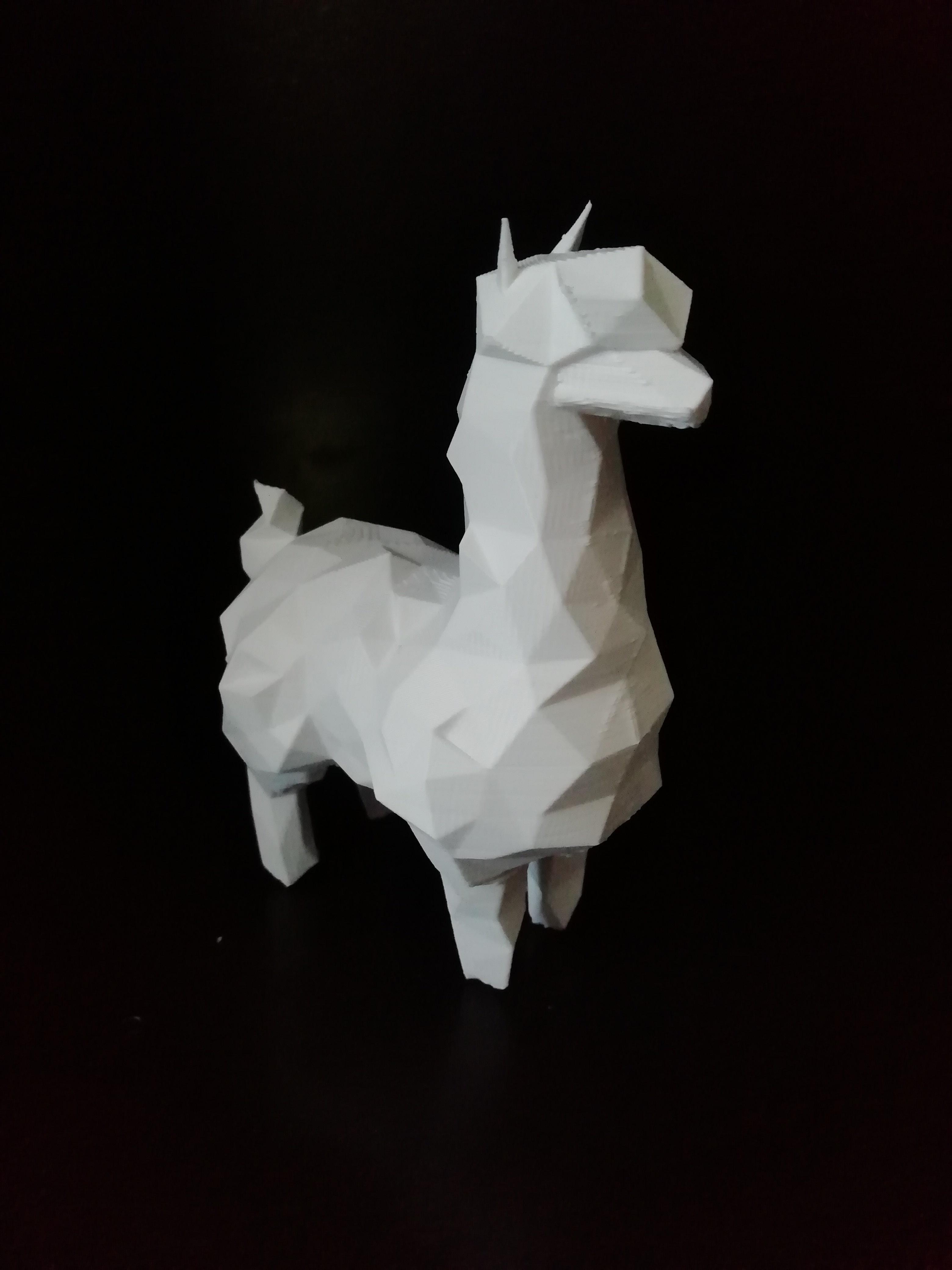 alpaca_02.jpg Download STL file Low poly alpaca • 3D printing template, eAgent