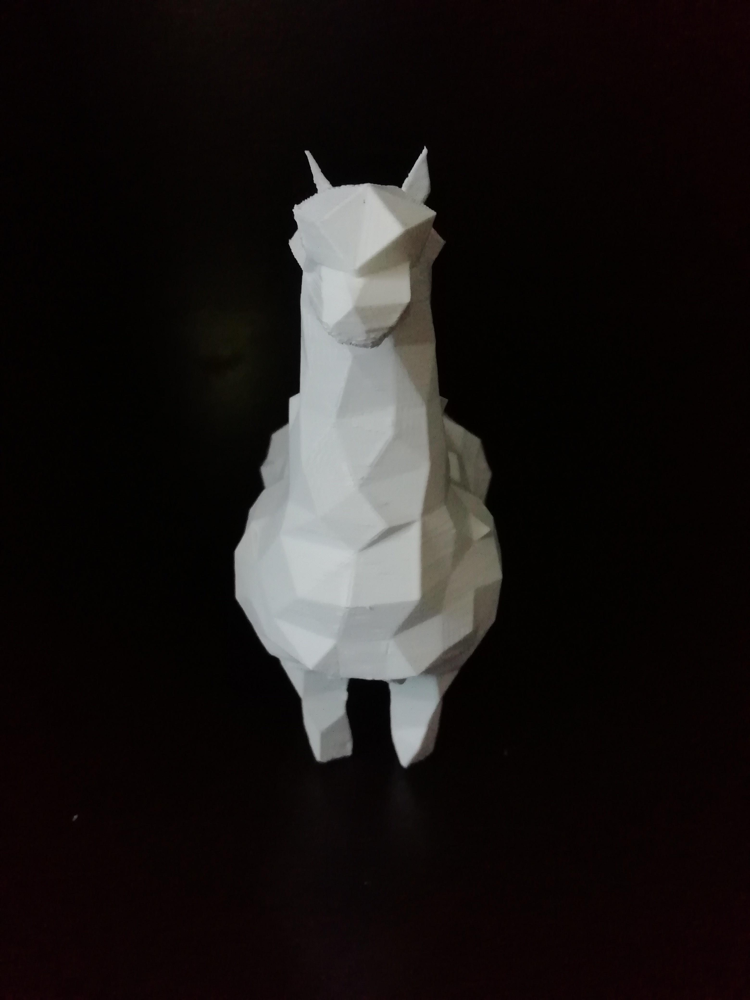 alpaca_03.jpg Download STL file Low poly alpaca • 3D printing template, eAgent