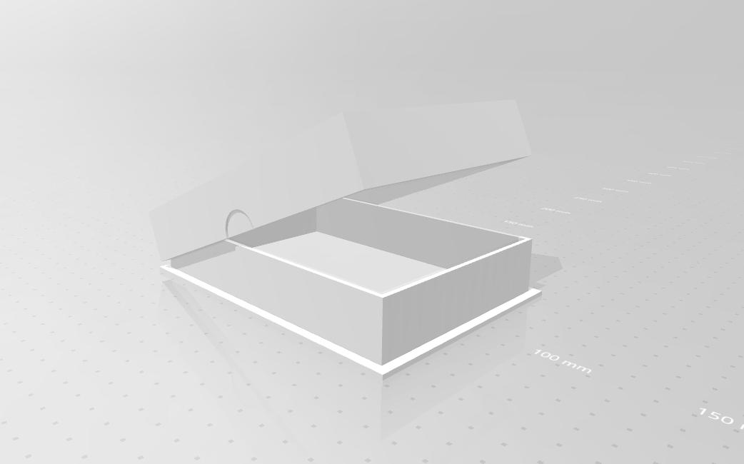 doosje_01.png Download STL file SNES game cartridge holder • 3D printer design, eAgent